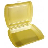 Boîte repas Papstar, en polystyrène expansé, 1compartiment, dorée – 100pièces