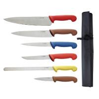 Ensemble de couteaux à code couleur Hygiplas - 7 pièces