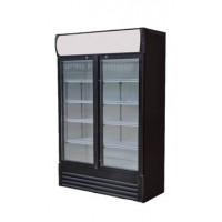 Getränkekühlschrank ECO 630 mit Leuchtaufsatz und Schiebetüren | Kühltechnik/Kühlschränke/Getränkekühlschränke