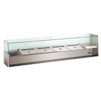 Kühlaufsatz ECO 4x GN 1/3 + 1x GN 1/2 mit Glasaufsatz | Kühltechnik/Kühlaufsätze