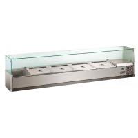 Kühlaufsatz ECO 5x GN 1/3 + 1x GN 1/2 mit Glasaufsatz | Kühltechnik/Kühlaufsätze