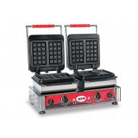 Waffeleisen Bruxelles 16x10 - doppelt, wechselbare Backplatten | Kochtechnik/Saisongeräte/Waffeleisen