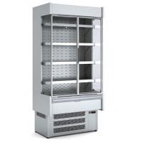 Wandkühlregal Profi 1500 Edelstahl mit Glastüren | Kühltechnik/Wandkühlregale